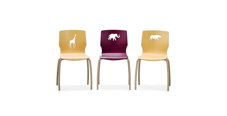 Crystal Curved Safari Chairs