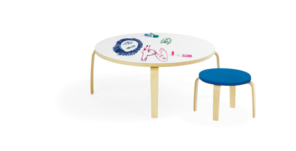 Crystal Low Table with Stool